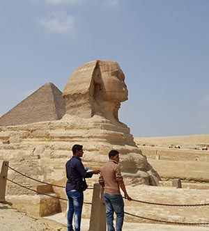 Egypt's famous Sphinx and Pyramid