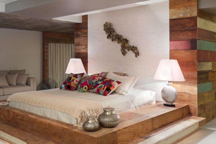 Quarto do casal projetado por Amélia Rodrigues e Maria Haydée. A mostra Morar Mais por Menos abre suas portas em 26 de outubro de 2011, na Casa do Candango, na 603 Sul, em Brasília.