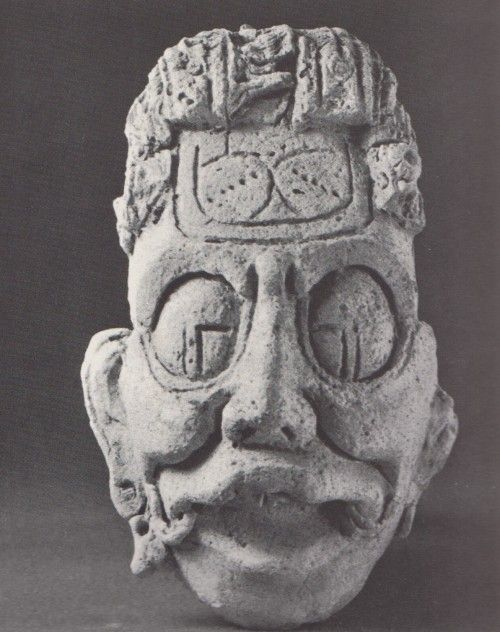 ASSertive DISCIPLINE Cabeza respresentando al Dios Solar. Maya estuco