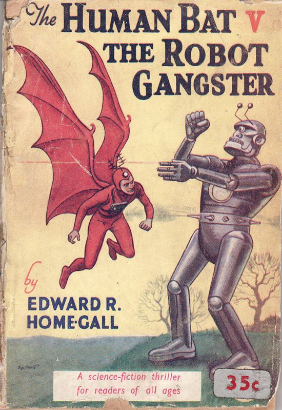 The human bat v the robot gangster - the age-old conflict...