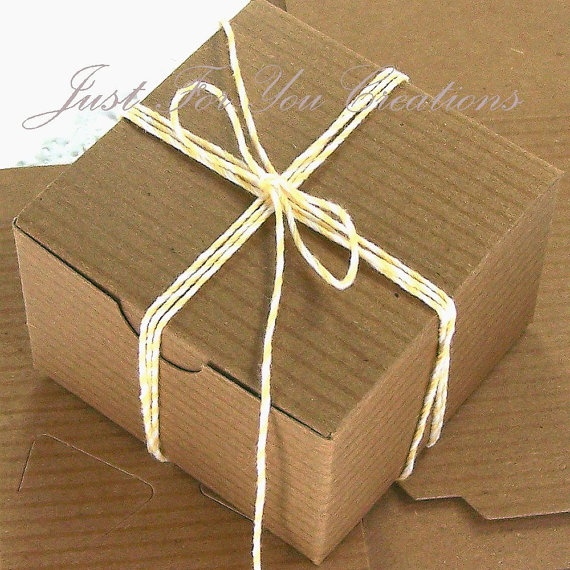 Gift Box Packaging Set   10 Kraft Boxes by JustforyouCreations