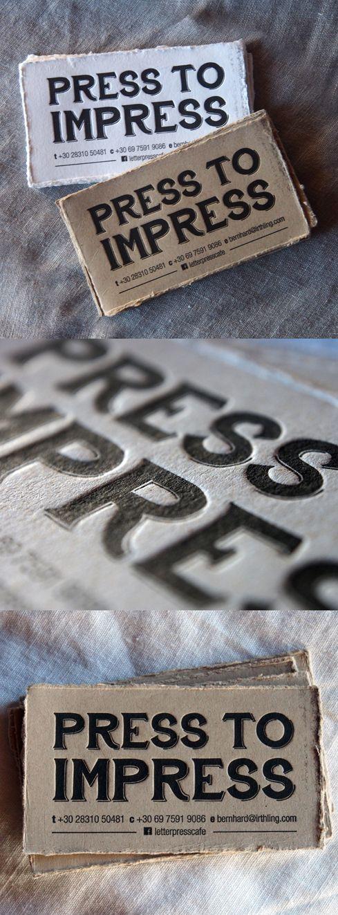 Letterpress Café cards.