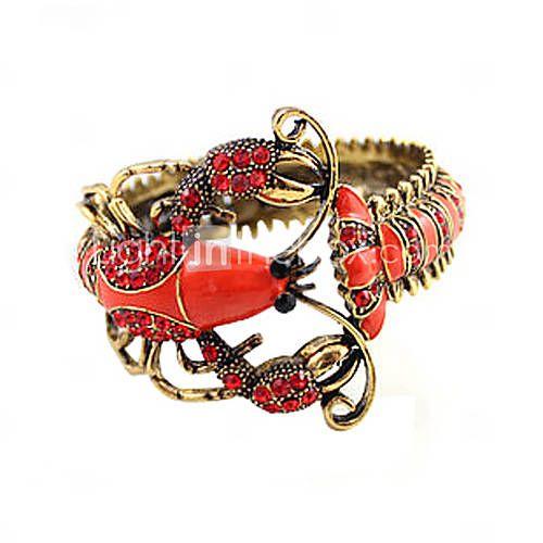 lagosta vermelha pulseira de cristal projeto