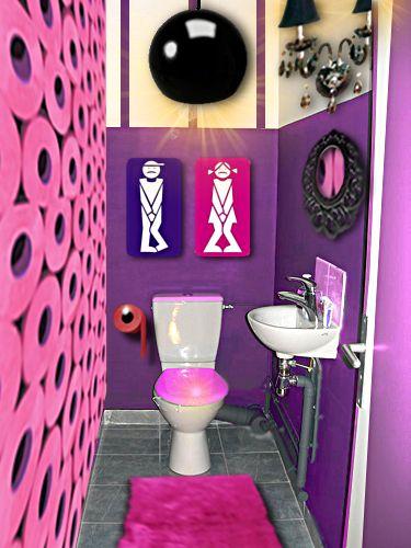Décoration de WC dans une ambiance Pep's par Floriane Lemarié