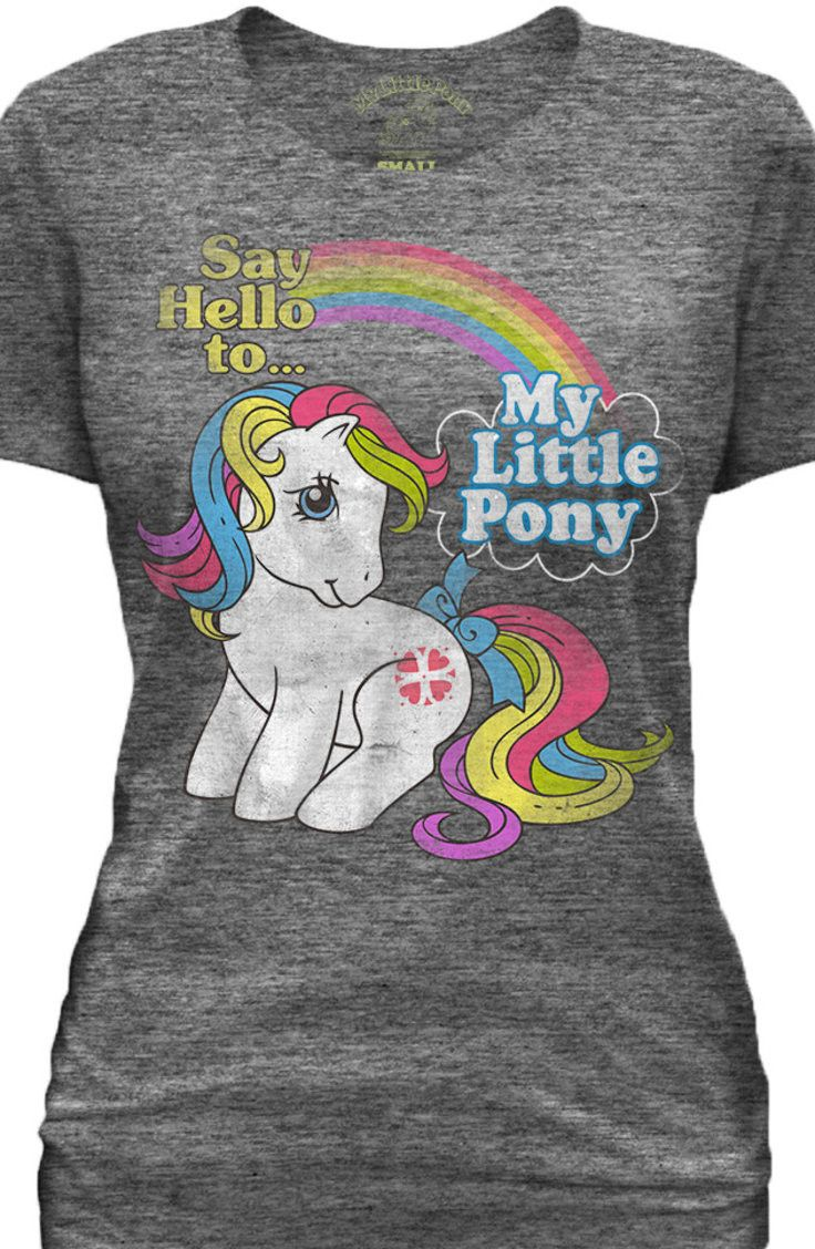 Say Hello To My Little Pony T-Shirt: 80s My Little Pony Shirts