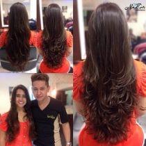 Os mais lindos cortes de cabelo degradê femininos, repicados, em camadas, para todos os tipos de cabelos, curtos, compridos, lisos, crespos e cacheados!