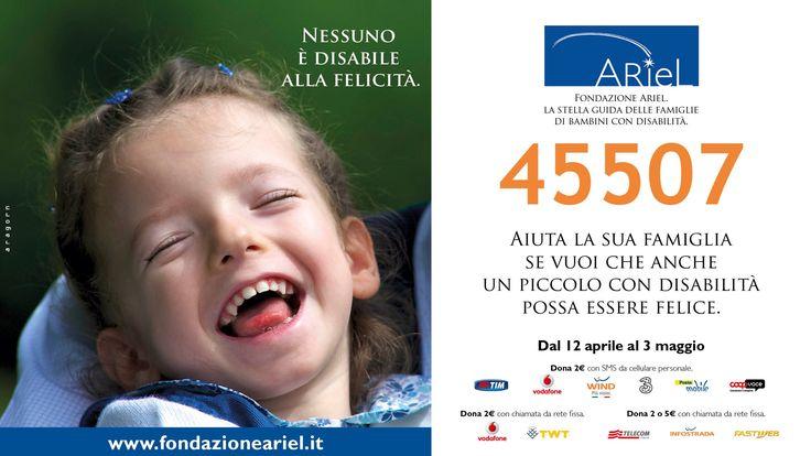 Sono tanti i programmi tv che sostengono la nostra #campagnaSMS con lo spot di #FondazioneAriel! Fatelo anche voi condividendo lo spot e ricordando che basta mandare un #SMSsolidale oppure chiamare da rete fissa il 45507 per regalare un #sorriso raggiante come quello di Ginevra a tanti #bambini con #disabilità!