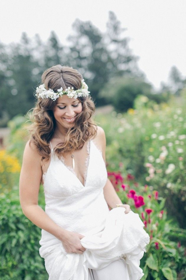 Bohemian Camping V Neck Backless Lace Flower Draping Wedding Dress Hot Sale  #bohemian #vneck #backless #lace #flower #weddingdress #wedding