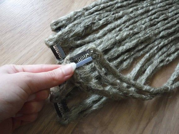 Custom Synthetic Dreadlocks – 4 Dread Weft Clip Natural Look Crocheted Texture Vegan Fake Dreads