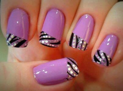 Best 25 tiger stripe nails ideas on pinterest tiger nail art purple with tiger stripe nails prinsesfo Image collections
