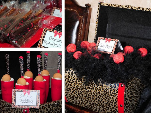 red an cheetah print party | loving this leopard print dessert table by Chanda of Two Left ...