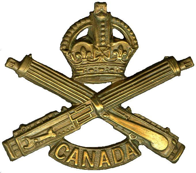 CEF - Cap Badge - Machine Gunnner's badge. WW1.