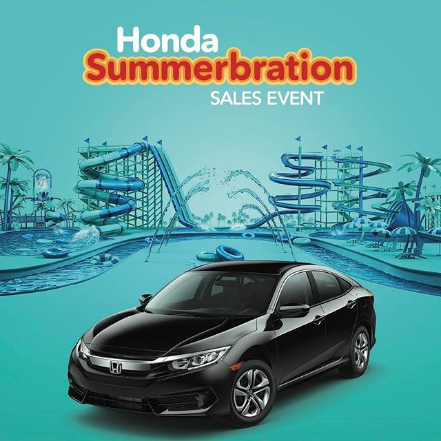 It's a Summerbration! Lease the 2017 Honda Civic LX Sedan for only $137/mo. $0 Cash Down! Schedule a #testdrive this weekend!