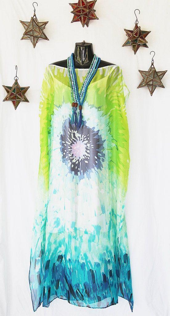 Pure Silk Chiffon Full Length Kaftan by Molly by MollyKaftans, $159.00