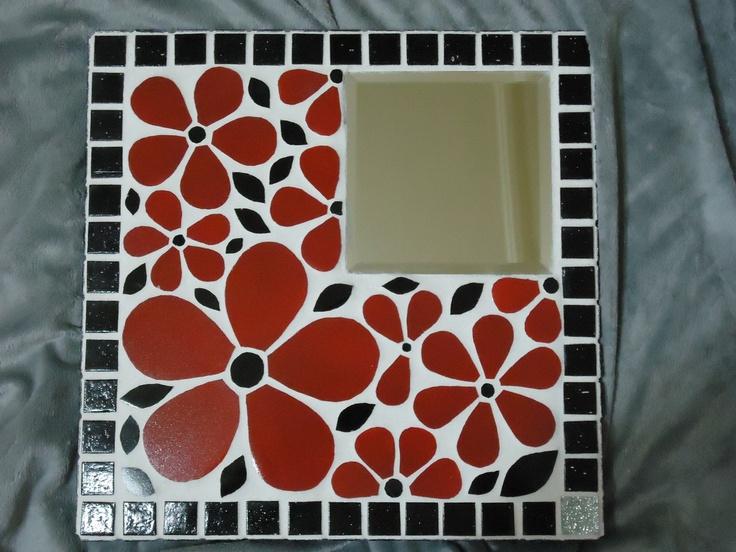 Mosaic - Fleurs rouges