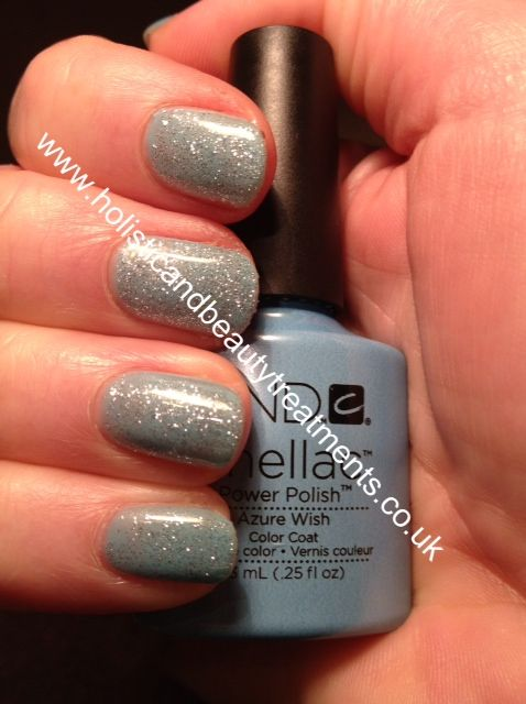 CND Shellac Azure Wish with Ice Vapor -Courtesy of Holistic and Beauty Treatments in the UK