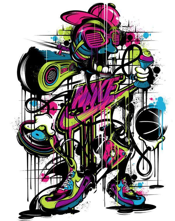 Ilustrações criativas para a Nike Sports  