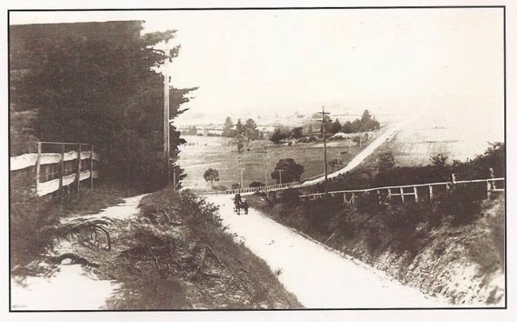 Burwood Hwy, 1960 looking from PLC towards Deaking Uni