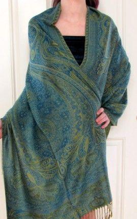 Beautiful Cashmere Pashmina Shawl En Vogue