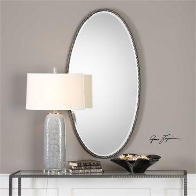 Mirror behind lamp