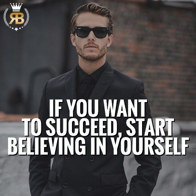 Believing in yourself is what will ensure your success. When you make the decision to follow your dreams, you will have people who will stand in your way and plant seeds of doubt but if you believe in yourself, you won't be moved by it. -  Also, tough times are going to be inevitable. If you doubt yourself, it's going to be hard to persevere and push through those hard times. - When you fail, believing in yourself is what will give you the extra push to try again, and again, and again…