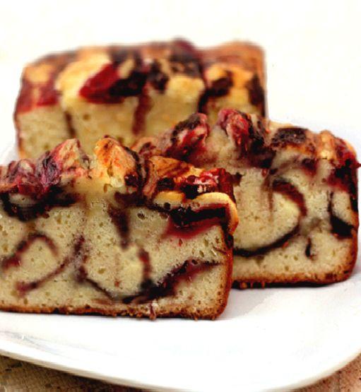 Double Berry Ribbon Yogurt Cake
