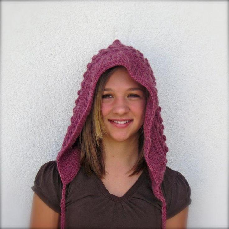 Best 94 ♡ Crochet Knit Pixie Hood Hats ♡ ideas on Pinterest ...