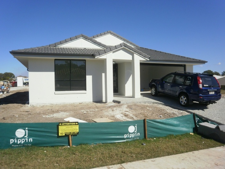 Building your house in 12 weeks – Week 8 – Tiling and External rendering  Now that all the internal painting is completed, the floor tiles can be layed and the light & fan fittings installed. Externally the plaster rendering is installed to give a fresh finish on the facade.