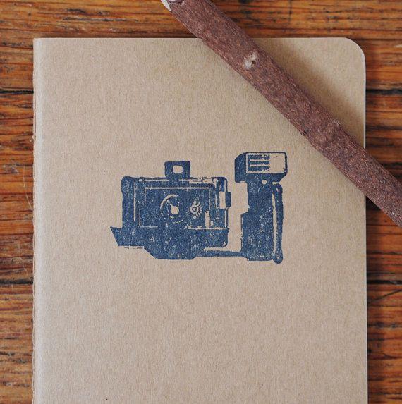 Retro Camera moleskine Polaroid pocket by blackbirdandpeacock, $10.00