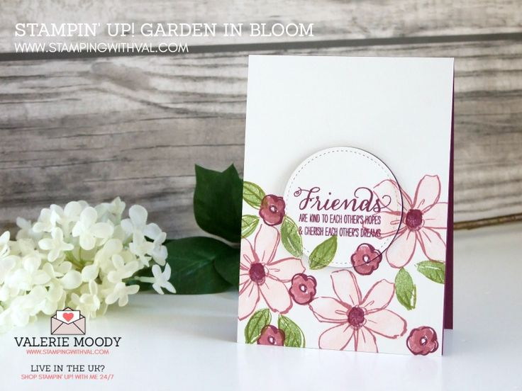 Stampin' Up! UK Independent Demonstrator Valerie Moody. Become one of my VIP Stampers and let me reward you BIG! Sharing Stampin' Up! UK Cards and Boxes, Ideas and Tutorials. Shop Stampin' Up! UK ONLINE HERE 24/7 - Garden In Bloom