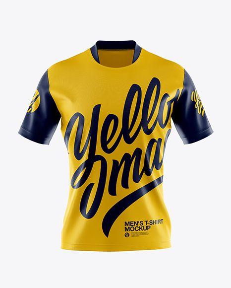 Men S T Shirt Mockup Front View In Apparel Mockups On Yellow Images Object Mockups Shirt Mockup Clothing Mockup Tshirt Mockup