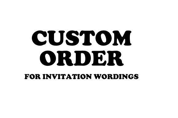 Custom Order  @creativework247