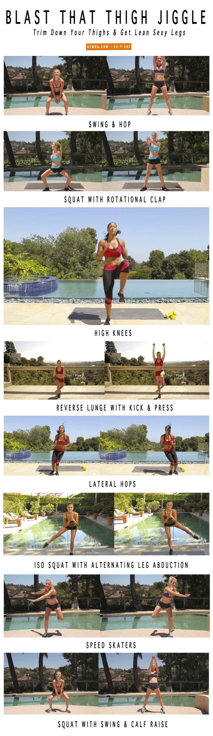 Trim your thighs & lean out your legs with our fat blasting #workout! #fitness #exercise #health #weightloss