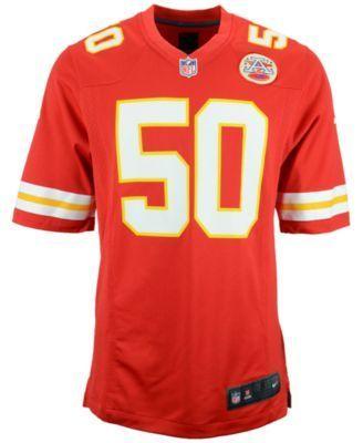 Nike Men's Justin Houston Kansas City Chiefs Game Jersey - Red M
