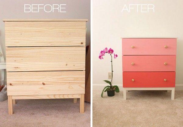 plain pine - add cute paint and knobs.  wow!  DIY-ify: Ikea Hack DIYs
