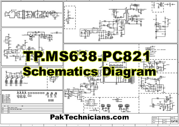 Tp Ms638 Pc821 Schematics Diagram Free Download In 2020