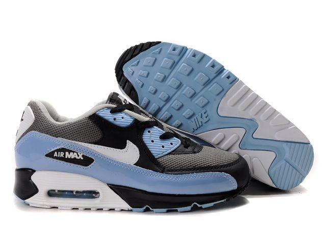 Blauw Zwart Wit Heren Nike Air Max 90 Schoenen NG-413370