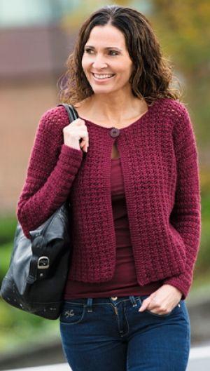 Hæklet jakke i smuk farve | Familie Journal