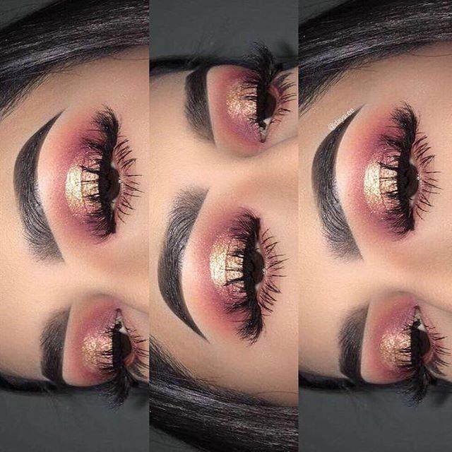 Dramatic Rose Gold Eyeshadow Look Follow Us Diamondkosmetics