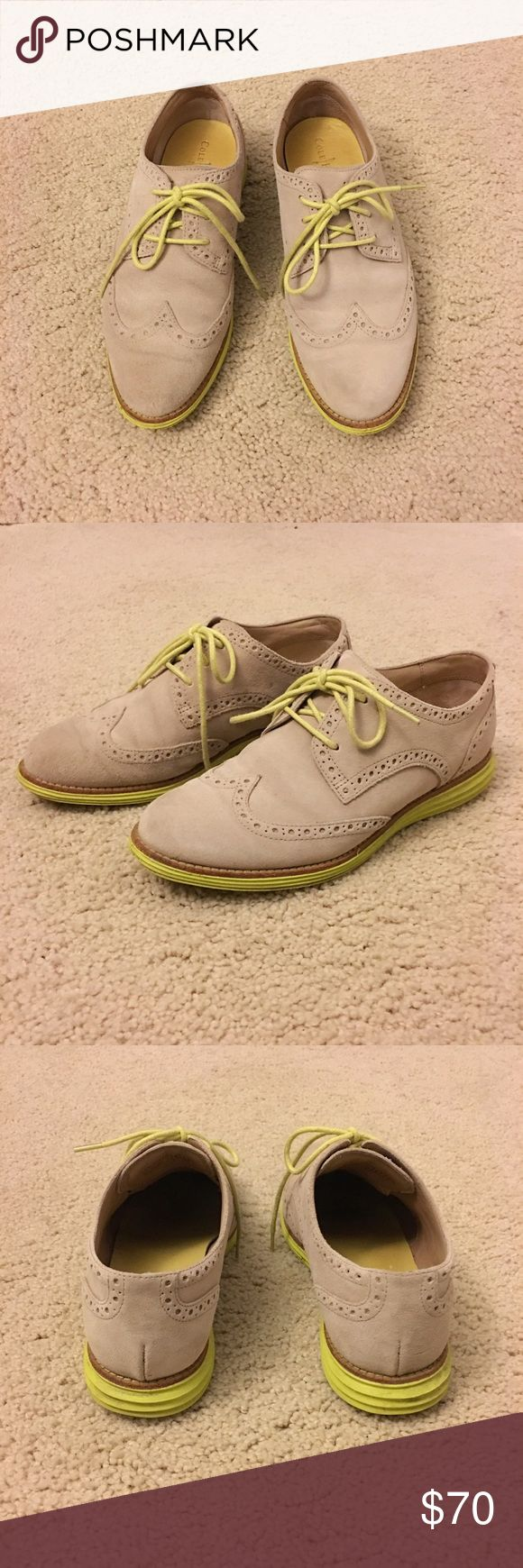 Cole Hann Oxfords Cole Haan Lunar Grand Suede Wingtip Oxfords. Perfect for spring. Use them as the statement piece! Cole Haan Shoes Flats & Loafers