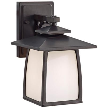 Feiss Wright House 10 1/4″ High Bronze Outdoor Wall Light – #3M602 | Lamps Plus