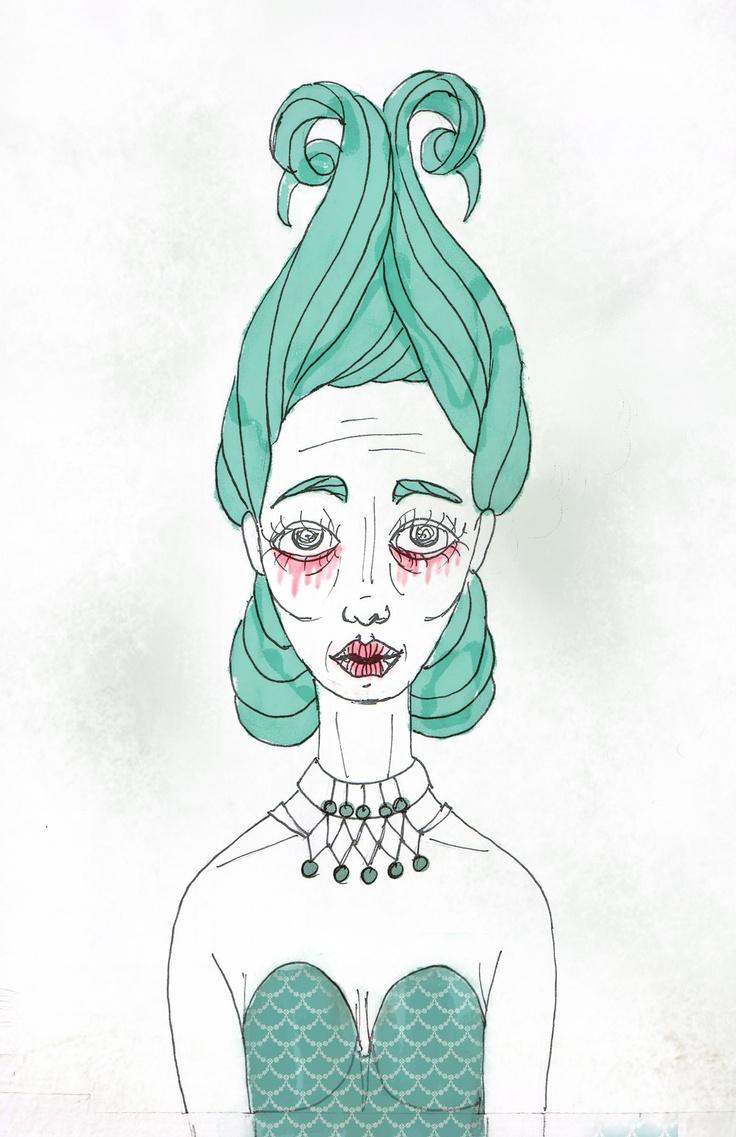 Maria Medusa (sketch) - São Marias project - 2012, by Maria Oliveira.
