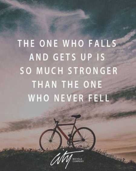 #morningthoughts #quote  The one who falls and gets up is so much stronger than the one who never fell