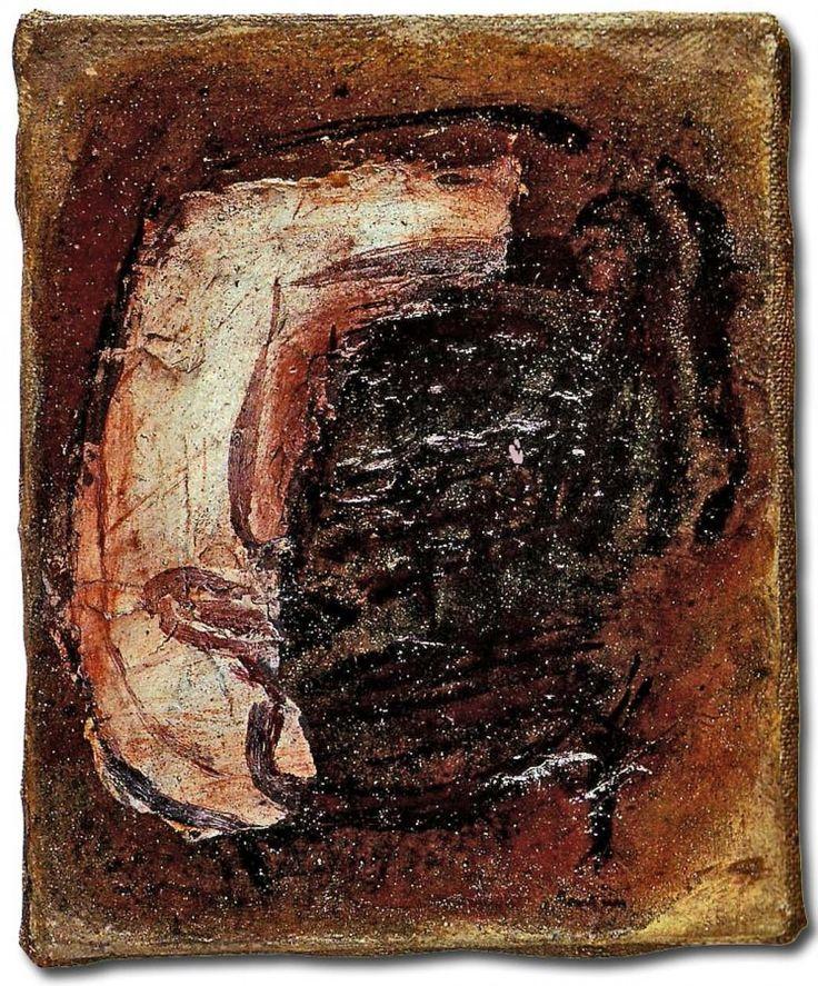 jean fautrier | Jean Fautrier « Otage », vers 1943. Huile sur papier marouflé sur ...
