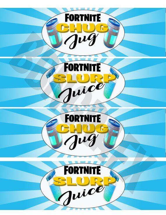 Fortnite Birthday, Fortnite Party, Water Bottle Labels