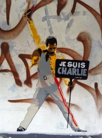 #jesuischarlie Street art in Germany by Marshal Arts. Photo by Marshal Arts.