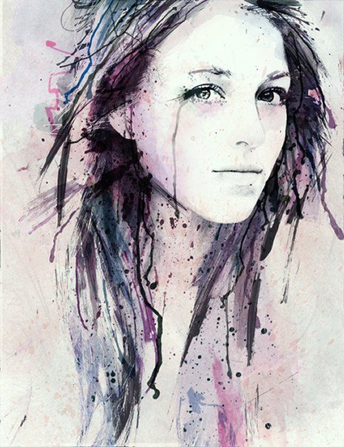 Personal Illustration by Zakhar KrylovThe Artists, Watercolors Portraits, Black And White, Self Portraits, Illustration, Zakhar Krylov, Water Colors, Watercolors Painting, Ink