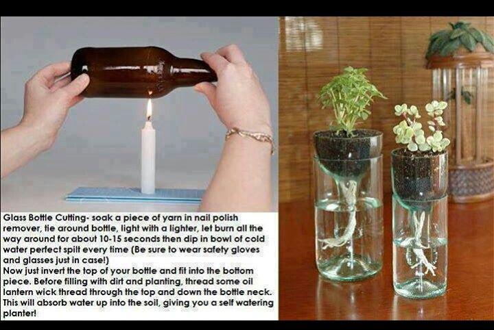 Diy Self Watering Planter Green Thumb Pinterest