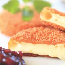 Crumbed, fried, baked brie.