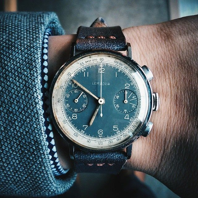 nd it didn't take me long to find a fave piece of the night. Love the slate tropical dial on this 1940's Lemania chrono with what I believe might be a lemania 15 ch movement. This is courtesy of by j0nathanp77 from Instagram http://ift.tt/1M0qfRl